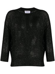 Snobby Sheep Sequin Embellished Jumper Black