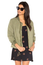 Michael Stars Cinched Bomber Olive