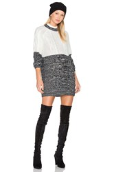 Minkpink Two Faced Mixed Knit Dress Grey