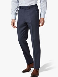Chester Barrie By Birdseye Wool Suit Trousers Navy