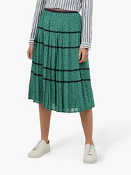 Ted Baker Colour By Numbers Talarla Floral Dot Pleated Midi Skirt Green