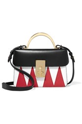 The Volon Data London Smooth And Textured Leather Shoulder Bag One Size