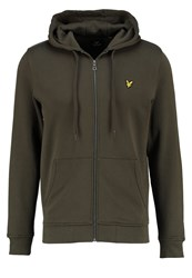 Lyle And Scott Tracksuit Top Dark Sage Oliv