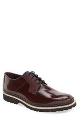 Ted Baker Men's London 'Oktibr' Plain Toe Derby Dark Red