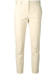 Reed Krakoff Textured Cropped Trousers Nude And Neutrals