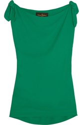 Vivienne Westwood Anglomania Shore Bow Detailed Georgette Top Green