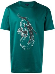 Lanvin Abstract Print T Shirt Green