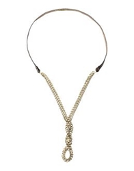 Pinko Black Necklaces Gold