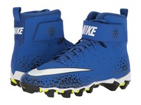 Nike Force Savage Shark Game Royal White Black Men's Cleated Shoes Blue