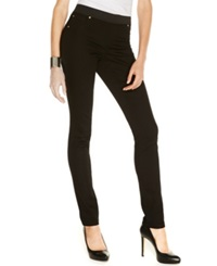 Inc International Concepts Petite Pull On Skinny Jeggings Black Wash