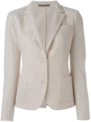 Eleventy Patch Pocket Blazer Nude And Neutrals