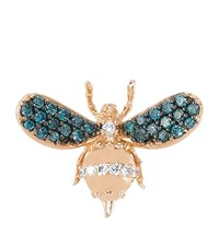 Bee Goddess Rose Gold And Diamond Wonders Of Nature Earring Blue