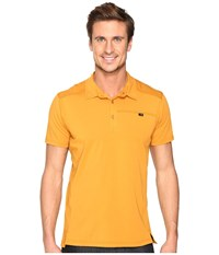 Arc'teryx Captive Polo S S Fired Clay Men's Short Sleeve Pullover Yellow
