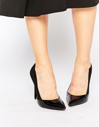 Daisy Street Black Pointed Toe Court Shoes Black