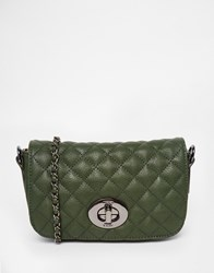 Marc B Liberty Quilted Cross Body Bag Forestgreen
