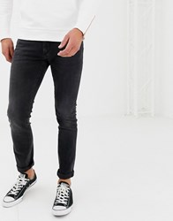 Boss Charlston Skinny Fit Jeans In Grey