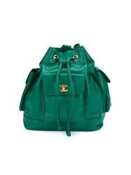 Chanel Vintage Bucket Backpack Green