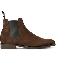 John Lobb Lawry Suede Chelsea Boots Brown