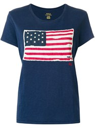 Polo Ralph Lauren American Flag T Shirt Blue