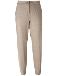 Etro Cropped Trousers Nude Neutrals
