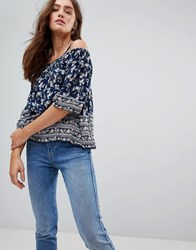 Pepe Jeans Ditsy Floral Cold Shoulder Blouse Multi