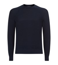 Brunello Cucinelli Chunky Knit Jumper Male Navy