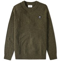 Wood Wood Yale Crew Knit Green
