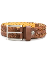 Moreschi Woven Belt Brown