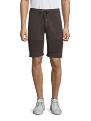 The Kooples Ribbed Cotton Sweat Shorts Grey
