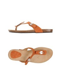 Scholl Thong Sandals Rust