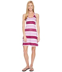 Life Is Good Stripe Racerback Dress Deep Plum Dusty Orchid Stripe Women's Dress Pink