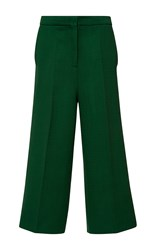 Rochas Wide Legged Cropped Pant Green