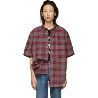 Vetements Red And Green Flannel Metal Ring Shirt