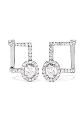 Messika Glam'azone 18 Karat White Gold Diamond Earrings One Size