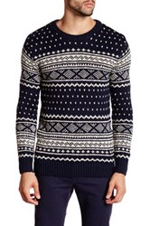 Scotch And Soda Intarsia Knitted Crewneck Sweater Multi