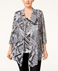 Jm Collection Woman Jm Collection Plus Size Chevron Print Layered Top Only At Macy's Chevron Blocks
