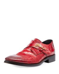 Balenciaga Runway Monk Strap Shoe Red