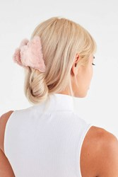 Urban Outfitters Fuzzy Claw Clip Mauve