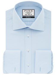 Thomas Pink Frederick Plain Double Cuff Super Slim Fit Shirt Pale Blue