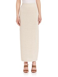 Max Mara Douglas Striped Knit Maxi Skirt Beige