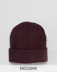 Reclaimed Vintage Oversized Beanie In Plum Purple