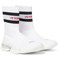 Vetements Reebok Sock Pump Stretch Knit Sneakers White