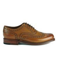 Grenson Men's Stanley Leather Brogues Tan Calf