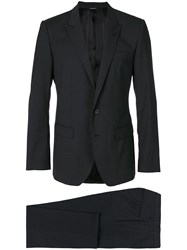Dolce And Gabbana Fitted Formal Suit Grey