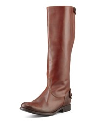 Melissa Zip Riding Extended Calf Boot Cognac Frye Red
