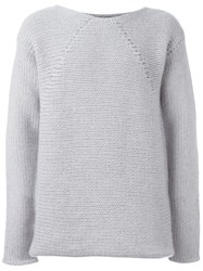 Lost And Found Ria Dunn Chunky Knit Jumper Grey