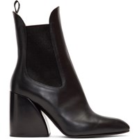 Chloe Black Wave Chelsea Boots