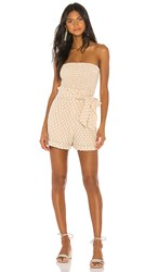 House Of Harlow 1960 X Revolve Roque Romper In Cream. Natural