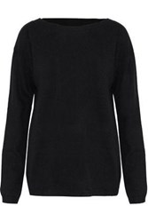 A.L.C. Robinson Cutout Wool And Cashmere Blend Sweater Black