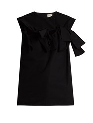 Maison Rabih Kayrouz Knot Front Sleeveless Cotton Top Black